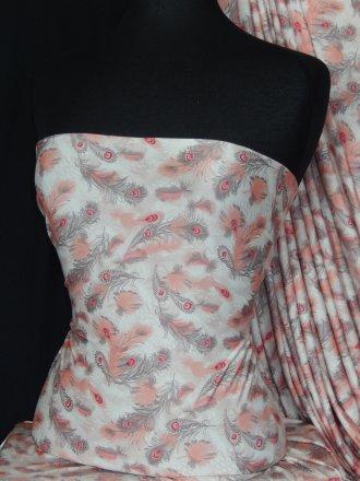 Silk Touch 4 Way Stretch Fabric- Peacock Breeze Q1371 CRMPN