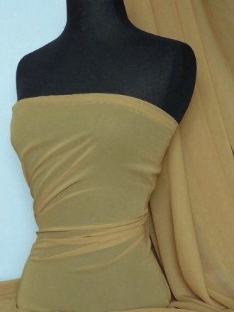 Soft Touch (112 cms) Sheer Chiffon Fabric- New Beige SQ30 NBG