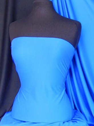 Clearance Fine Rib 100% Polyester Fabric- Cobalt Blue SQ32 CBL