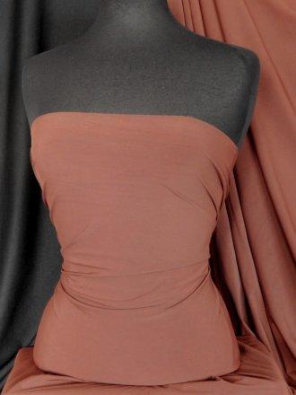 Clearance Matt Lycra 4 Way Stretch Fabric- Chocolate Brown SQ33 CHBR