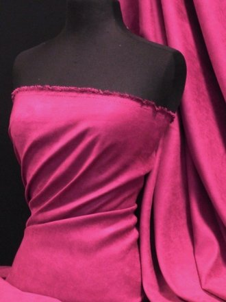 Suedette Suede Look Fabric Material- Magenta Q835 MGT