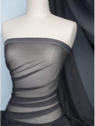 Helenka Mesh Two Tone Shimmer Material- Grey SQ38 GR