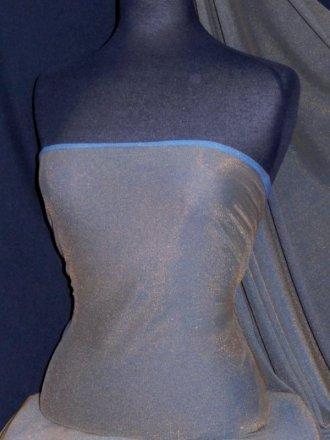 Helenka Mesh Two Tone Shimmer Material- Gold/Blue SQ38 GDBL