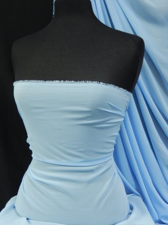 Chiffon Soft Touch Sheer Fabric Material- Cinderella Blue Q354 CINBL