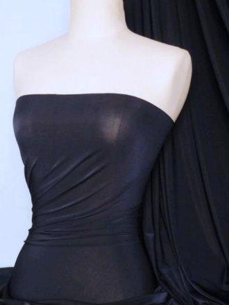 Diabolo Shiny Lycra 4 Way Stretch Fabric- Navy Q262 NY