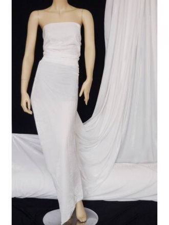 Velvet /Velour 4 Way Stretch Spandex Lycra- White Q559 WHT