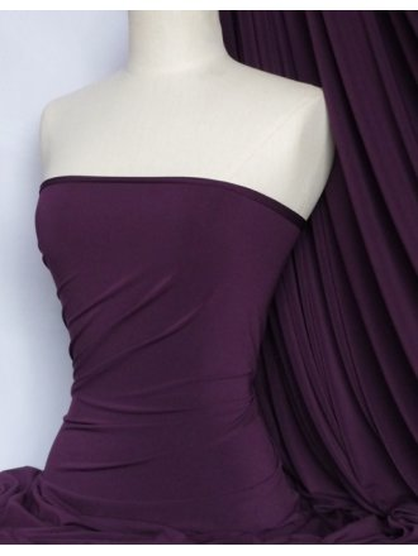 Soft Touch 4 Way Stretch Lycra Fabric- Dark Purple Q36 DKPPL