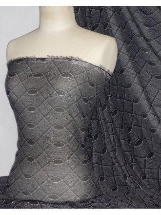 Chiffon Soft Touch Sheer Fabric - Sia Design PCH24 BKWHT
