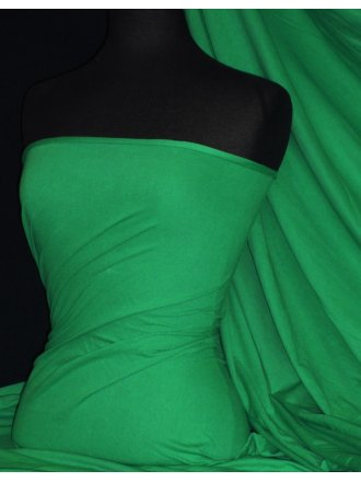 Single Jersey Knit 100% Light Cotton T-Shirt Fabric - Emerald Q1249 EMR