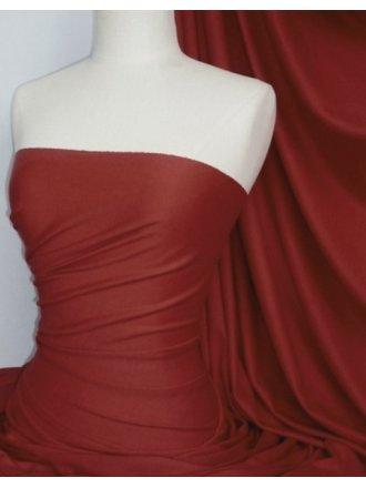 Single Jersey Knit 100% Light Cotton T-Shirt Fabric- Dark Red Q1249 DKRD
