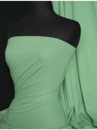 100% Cotton Interlock Knit Soft Jersey T-Shirt Fabric- Soft Mint Q60 SFMNT
