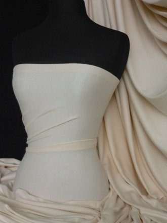 100% Cotton Interlock Knit Soft Jersey T-Shirt Fabric- Pastel Peach Q60 PPCH