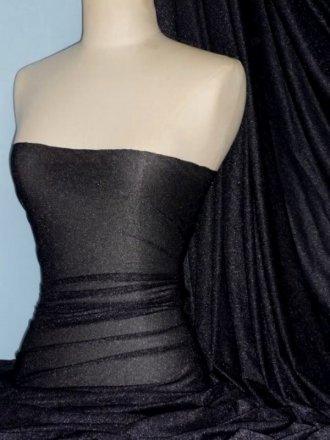 Subtle Silver Shimmer 4 Way Stretch Fabric - Jet Black SQ54 JBK
