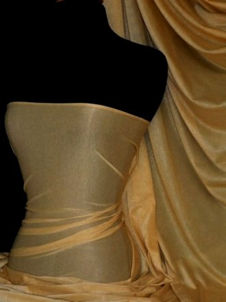 Subtle Gold Shimmer 4 Way Stretch Fabric - Dark Gold SQ55 DKGD