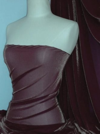 Subtle Gold Shimmer 4 Way Stretch Fabric - Damson SQ55 DM