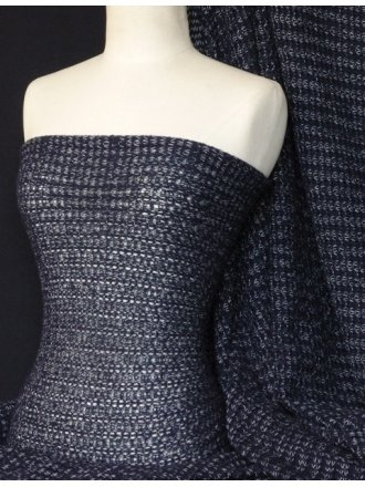 Sweater Knit Acrylic Soft Fabric- Navy Q971 NY