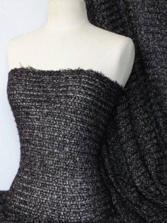 Sweater Knit Acrylic Soft Fabric- Black Q971 BK