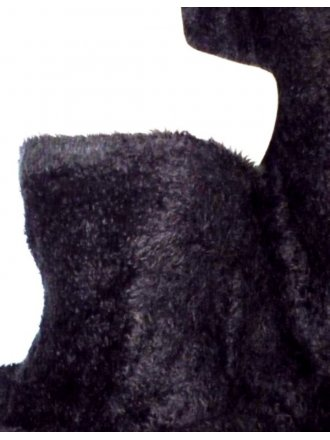 Black Poodle Faux Imitation Fur Fabric