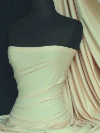 Cotton Lycra Jersey 4 Way Stretch Fabric - Stone Q35 STN