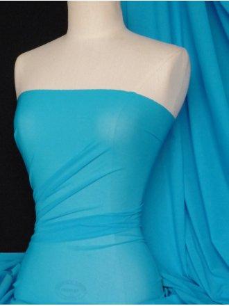 Power Mesh / Net 4 Way Stretch Fabric - Turquoise Q107 TQ