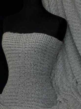 Sweater Knit Acrylic Soft Fabric - Grey Q971 GR