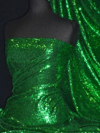 Showtime Fabric All Over Stitched 3mm Sequins - Mask Green SEQ53 MSK