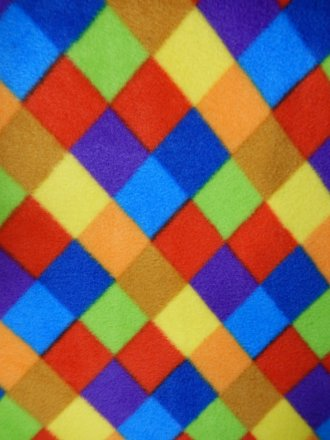 Polar Fleece Anti Pill Washable Soft Fabric- Elmer Two Q1284 MLT2