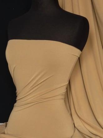 Micro Lycra 4 Way Stretch Fabric - Camel Q259 CML