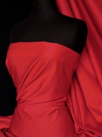 Cotton Poplin Shirt Fabric- Red Q448 RD