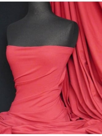 Clearance Pinky Red Heavy Viscose Cotton Stretch Lycra Fabric