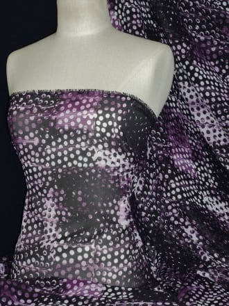 Chiffon Soft Touch Sheer Fabric - Fusion Lights Purple CHF190 PPL