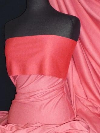 Ponte Double Knit 4 Way Stretch Jersey Fabric- Marl Strawberry Q37 STWB
