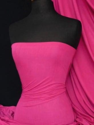 100% Viscose Stretch Fabric Material- Fuchsia Pink 100VSC FCH