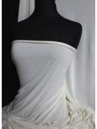 100% Viscose Stretch Fabric Material- Ivory 100VSC IV