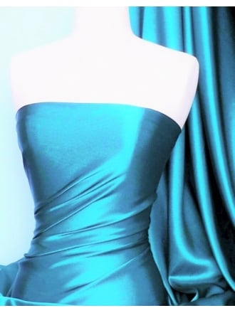 Crepe Back Satin Fabric Material- Turquoise Blue Q131 TQ
