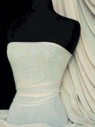 Spun Poly Viscose Light Weight Stretch Fabric- Ivory PVSC IV