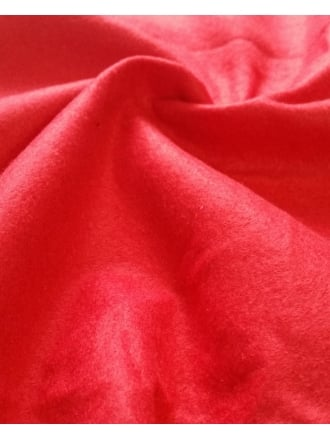 Soft Felt Craft Fabric By The Metre- Festive Red SQ97 FRD