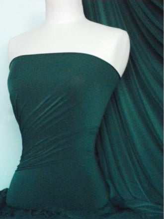 Silk Touch 4 Way Stretch Lycra Fabric- Forest Green Q53 FSTGRN
