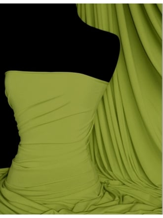 Soft Touch 4 Way Stretch Lycra Fabric- Lime Green Q36 LGRN