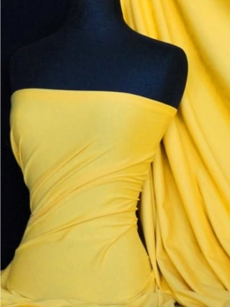 Cotton Lycra Jersey 4 Way Stretch Fabric - Yellow Q35 YL