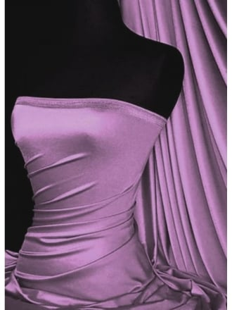 Clearance Shiny Lycra 4 Way Stretch Lightweight Material- Light Violet SQ68 LTVLT