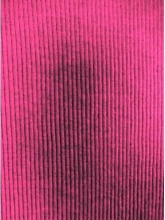 Clearance 2 x 2 Poly Viscose Rib Knit Stretch Fabric- Hot Pink SQ93 HTPN