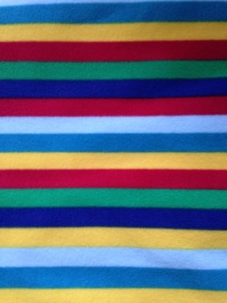 Polar Fleece Anti Pill Washable Soft Fabric- Clown Stripes PF CLWN