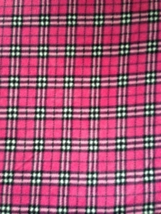 Polar Fleece Anti Pill Washable Soft Fabric- Cerise Pink Tartan PF CRSTRT