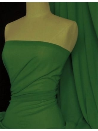 Soft Touch (112 cms) Sheer Chiffon Fabric- Forest Green SQ30 FGR