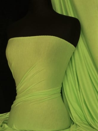 Viscose Cotton Stretch Lycra Fabric- Lime Green Q300 LMGR