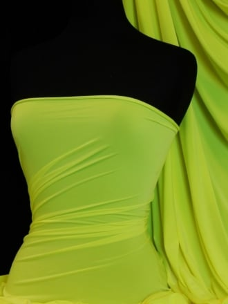 Peach Skin Soft Touch Drape Dress Fabric- Neon Yellow PSK208 NYL