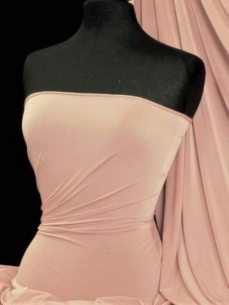 Peach Skin Soft Touch Drape Dress Fabric- Flesh Pink PSK208 FLSH