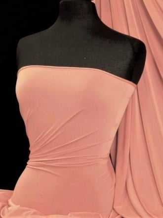 Peach Skin Soft Touch Drape Dress Fabric- Melba Peach PSK208 MBPCH