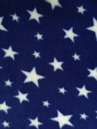 Polar Fleece Anti Pill Washable Soft Fabric- Royal Blue Twinkle PF227 RBLWHT